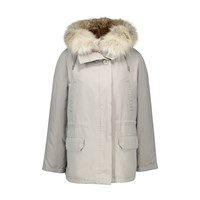 Army By Yves Salomon Parka Lined With Rabbit Fur Washed Black Naturel