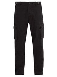 Valentino Dropped Crotch Cotton Cargo Trousers Black