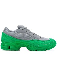 Raf Simons Adidas By Green And Grey Ozweego Leather Sneakers