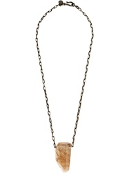 Joseph Brooks Crystal Pendant Necklace Metallic