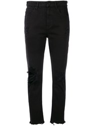 Alexander Wang T By Destroyed Detailed Jeans Black