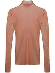 Dion Lee Sheer Knit Sweater Pink