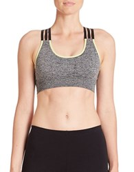 Candc California Laya Crisscross Back Sports Bra Heather Grey