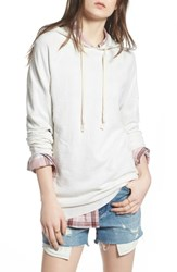 Treasure And Bond Pullover Hoodie Beige Oatmeal Light Heather