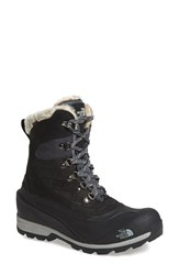 The North Face Women's 'Chilkat 400' Waterproof Primaloft Insulated Boot Black Zinc Grey