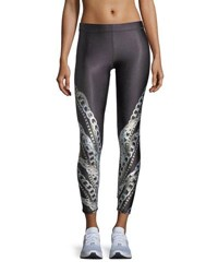 Terez Falling Chains Ankle Performance Leggings Multi Pattern