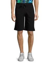 Versace Solid Sweat Shorts Black