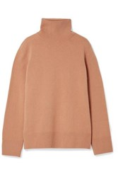 The Row Milina Wool And Cashmere Blend Turtleneck Sweater Sand
