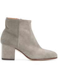 Common Projects Zipped Ankle Boots Leather Suede Grey