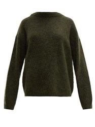 Acne Studios Dramatic Oversized Knit Sweater Khaki