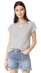 Alexander Wang Cap Sleeve Sweatshirt Heather Grey