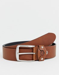 Timberland Leather Belt In Tan Brown