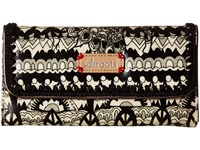 Sakroots Artist Circle Trifold Wallet Black White One World Wallet Handbags Beige