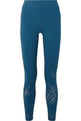 Koral Drive Maxen Perforated Stretch Jacquard Leggings Azure