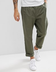 Kiomi Tapered Trouser With Double Pleat Green