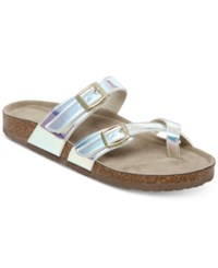 Madden Girl Bryceee Footbed Sandals Iridescent