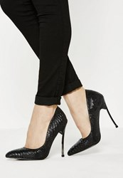 Missguided Black Pointed Toe Court Shoes
