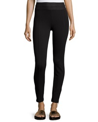 Dex Tiered Waist Ponte Leggings Black