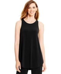 Alfani Racerback Jersey Tunic Tank Only At Macy's Deep Black