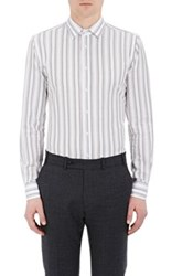 Brooklyn Tailors Men's Pique Weave Button Front Shirt White