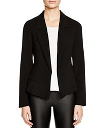 Aqua Crinkled Blazer Black
