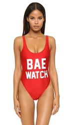 Private Party Bae Watch One Piece Bathing Suit Red
