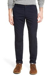 Men's Bonobos Slim Fit Flannel Lined Chinos Midnight Blue