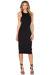 Alexander Wang Ponte Bandeau Back Maxi Dress Black