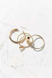Urban Outfitters Sun Triangle Ring Set Gold