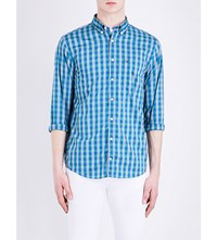 Tommy Hilfiger New York Fit Gingham Print Cotton Shirt Bluejay Multi