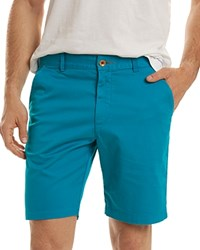 Robert Graham Pioneer Stretch Cotton Shorts Turquoise
