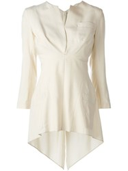 Yohji Yamamoto Vintage Deconstructed Blouse Nude And Neutrals