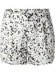 Haute Hippie Abstract Print Shorts White