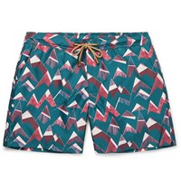 Thorsun Titan Slim Fit Mid Length Printed Swim Shorts Multi