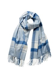 Johnstons Of Elgin Cashmere Blue Check Stole