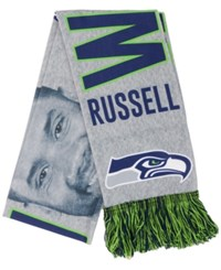 Forever Collectibles Russell Wilson Seattle Seahawks Sublimated Player Scarf Navy Green