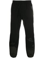 Undercover Elasticated Ufo Print Trackpants Black