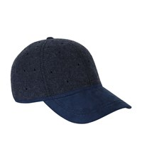 Christys' London Perforated Baseball Cap Unisex Navy