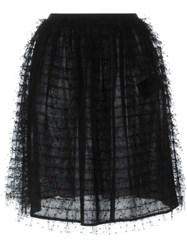 Red Valentino Tulle Rara Skirt Black