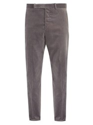 Berluti Slim Leg Velvet Trousers Grey