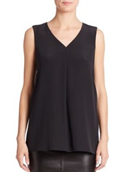 Pauw Sleeveless Silk Top Black
