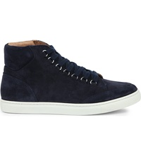 Kg By Kurt Geiger Brickers Suede High Top Trainers Navy