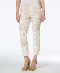 Charter Club Petite Bristol Printed Capri Jeans Only At Macy's Dark Sorbet Combo