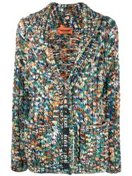 Missoni Mottled Knit Cardigan Green