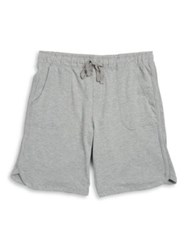 Black Brown Drawstring Knit Shorts Grey