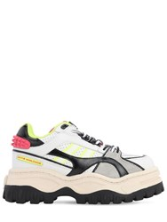 Eytys Grand Prix Platform Leather Sneakers Multicolor