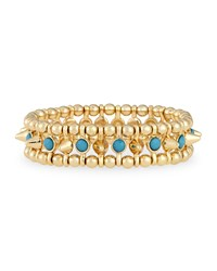 Jules Smith Designs Jules Smith Small Golden Spike Stretch Bracelet Turquoise