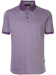 D'urban Contrast Collar Polo Shirt Purple