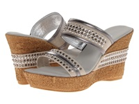 Onex Breeze Pewter Leather Women's Wedge Shoes