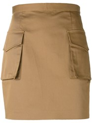 Dsquared2 Military Mini Skirt Nude Neutrals